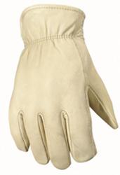 Men's Fleece Lined Leather Gloves - Large