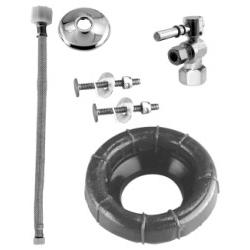 Westbrass Lever Handle Ball Valve Toilet Kit & Wax Ring