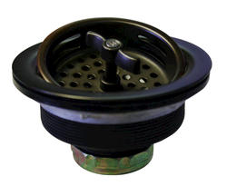 Westbrass Large Basket Strainer, Wing Nut style