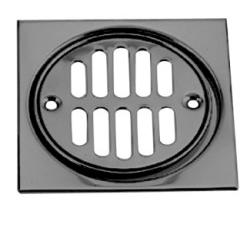Westbrass Shower Strainer Set Square with Crown