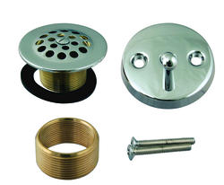 Westbrass Trip Lever Face Plate w/screws and Fine Thread Shoe Strainer