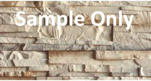 Stone Master 174 Stone Veneer Siding Sample Approximately 1
