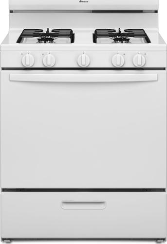 Amana 5 1 Cu Ft Freestanding Gas Oven With 4 Burner