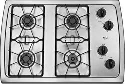 "Whirlpool® 30"" Built-In Gas Cooktop"