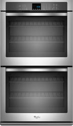 """Whirlpool® 30"""" Double 5 cu. ft. Electric Wall Oven with SteamClean Option"""
