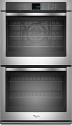 """Whirlpool® 30"""" Double 5 cu. ft. Electric Wall Oven with True Convection Cooking"""