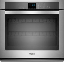 """Whirlpool® 27"""" Single 4.3 cu. ft. Electric Wall Oven with SteamClean Option"""