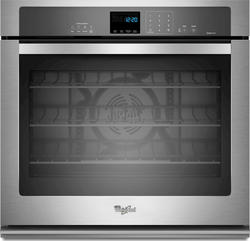 """Whirlpool® 27"""" Single 4.3 cu. ft. Electric Wall Oven with True Convection Cooking"""