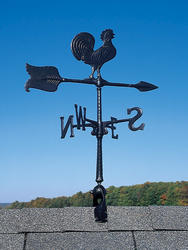 "Whitehall 24"" Black Rooster Accent Weathervane"