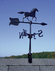 "Whitehall 24"" Black Horse Accent Weathervane"