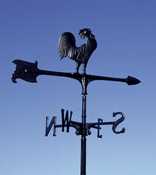 "Whitehall 30"" Black Rooster Accent Weathervane"