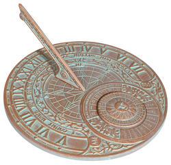 Whitehall Copper Verdigris Perpetual Calendar Sundial