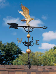 "Whitehall 46"" Gold-Bronze Eagle Weathervane"