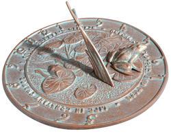 Whitehall Copper Verdigris Frog Sundial