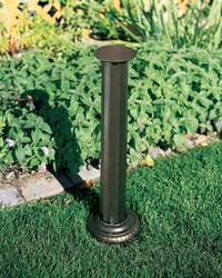 Whitehall French Bronze Aluminum Roman Sundial Pedestal