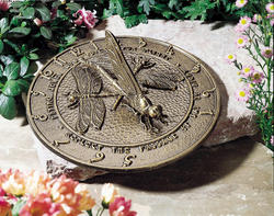 Whitehall French Bronze Dragonfly Sundial