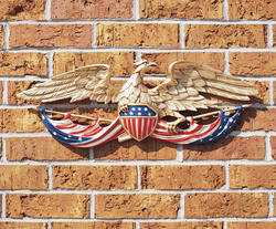 "Whitehall 24"" Color Patriotic Wall Eagle"