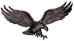 "Whitehall 29"" Black Wall Eagle"