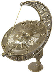 Whitehall French Bronze Sun and Moon Sundial