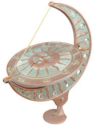 Whitehall Copper Verdigris Sun and Moon Sundial