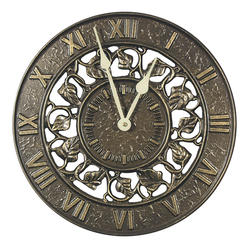 Whitehall French Bronze Ivy Silhouette Clock