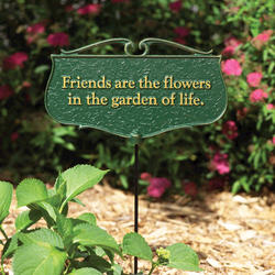 "Whitehall ""Friends are the Flowers"" Garden Poem Sign"