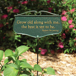 """Whitehall """"Grow Old along with Me"""" Garden Poem Sign"""