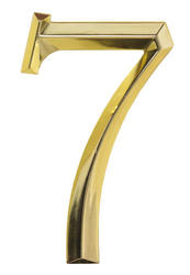 Whitehall Polished Brass Classic House Numbers