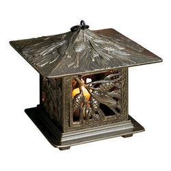Whitehall French Bronze Pinecone Tea Lantern