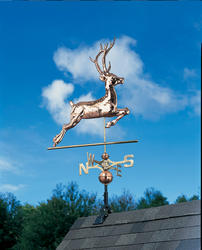 Whitehall Polished Copper Deer Weathervane