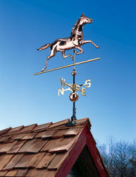 Whitehall Polished Copper Horse Weathervane