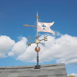 Whitehall Polished Copper Banner Weathervane