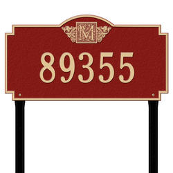 Whitehall Monogram Estate 1-Line Lawn Plaque