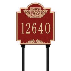 Whitehall Monogram Standard 1-Line Lawn Plaque