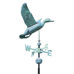 Whitehall Polished Copper Duck Weathervane
