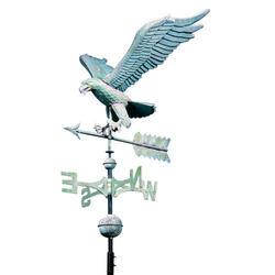 Whitehall Polished Copper Eagle Weathervane