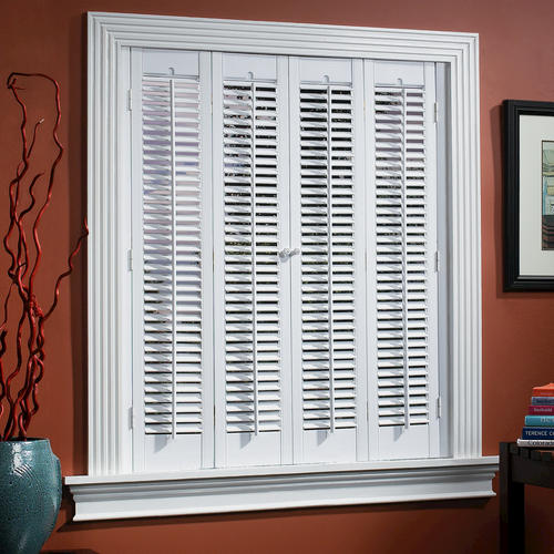 homebasics traditional faux wood interior shutter 39 41 w x 20 l at menards