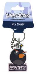 Angry Birds® Rubber Key Ring - Black Bird
