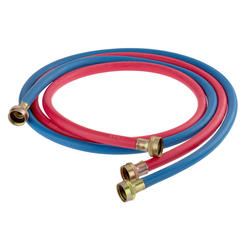 2 Pk Red/Blue Washing Machine Hose 6'
