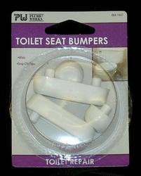 Toilet Seat Bumper Set White