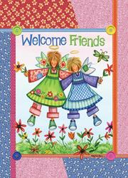 """Welcome Friends 11"""" x 15"""" Flag"""