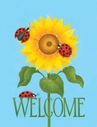 "Sunflower Welcome 11"" x 15"" Flag"