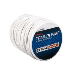 TowSmart 100' x 2mm White Trailer Wire
