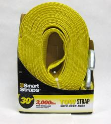 SmartStraps® 30' Yellow Tow Strap with Hook
