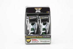 SmartStraps® 10' Green Ratchet X Straps (2-Pack)