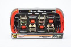 SmartStraps® 10' Padded Ratchet Straps (4-Pack)