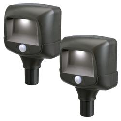 Mr. Beams 2 Pack Battery Powered Motion Sensing LED Path Light