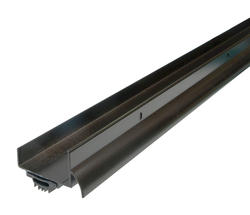 WJ Dennis Brown U-Shaped Aluminum - Drip Cap Door Bottom Weatherstrip
