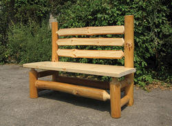 Deerfield Log Bench