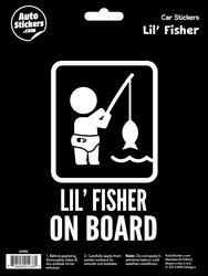 """Lil' Fisher on Board"" Automotive Decal"